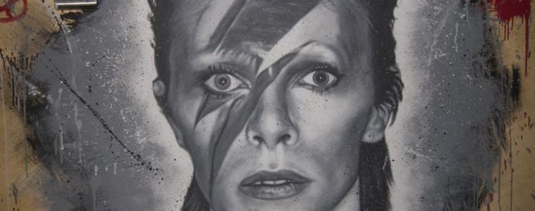 Bowie tekening Thierry Ehrmann