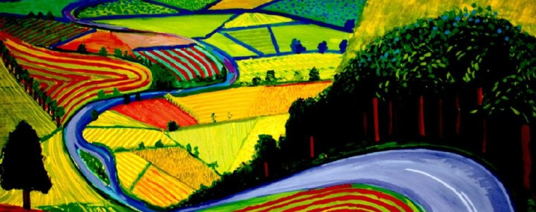 David Hockney garrowby hill Painting by Collection; David Hockney garrowby hill Art Print for sale