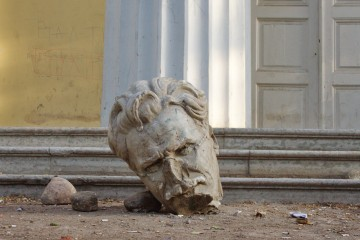 Head in a court yard of the Academy of arts